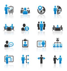 Business management and human resource icons vector