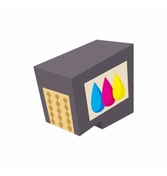 Cartridges for printer icon cartoon style vector