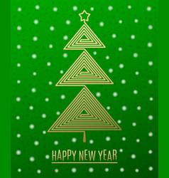 Christmas tree and new year greeting vector