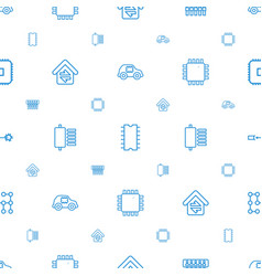 Circuit icons pattern seamless white background vector