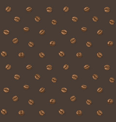 Coffee beans pattern vector