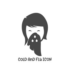 Cold and flu icon simple flat style vector