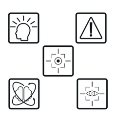 collection virtual reality devices elements icons vector image