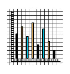 Color sections silhouette of statistic graphic vector