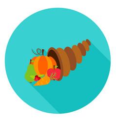 cornucopia circle icon vector image