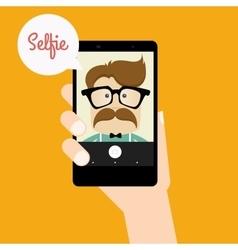 Cute Selfie background vector