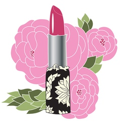 Decorative lipstick vector