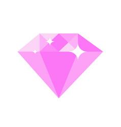 Diamond pink color vector