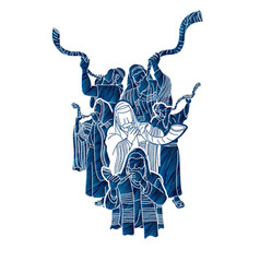 feast trumpets vector image