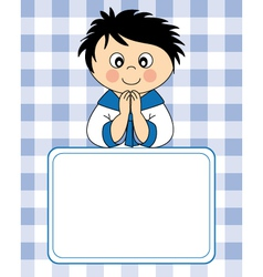 First communion boy vector