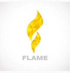 flame logo facet vector image