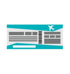 flight boarding pass icon image vector image
