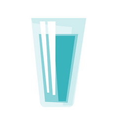 glass of water cartoon vector image