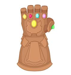 Glove thanos superhero on a white background vector