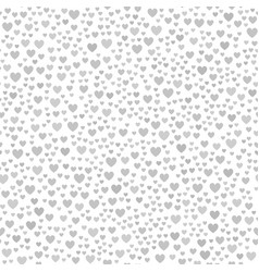 Gray chaotic heart pattern seamless background vector