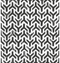 Hand drawn tribal monochrome pattern Primitive vector image