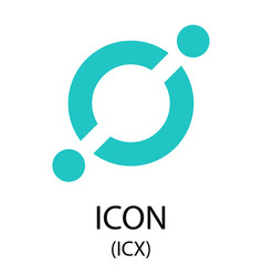 icon cryptocurrency symbol vector image