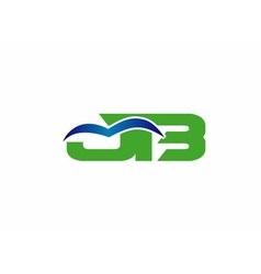 JB company group linked letter logo vector image