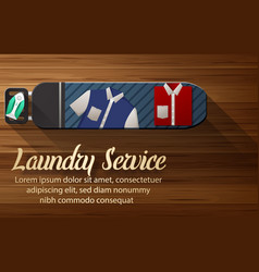 Laundry service design with ironing board vector