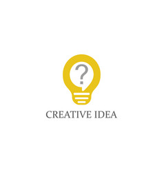 lightbulb idea logo vector image