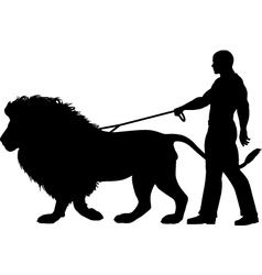 Lion walker vector image