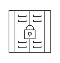 Locker icon astorage compartment line style vector