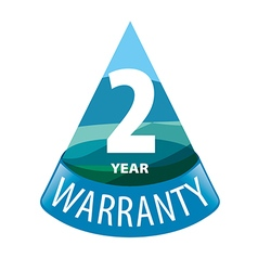 Logo in the shape of a triangle 2 year warranty vector