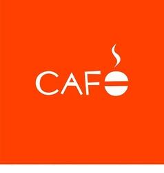 logo text cafe vector image