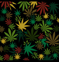 Marijuana and cannabis background vector