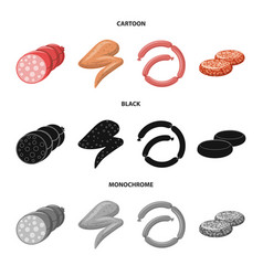 Meat and ham logo set of vector