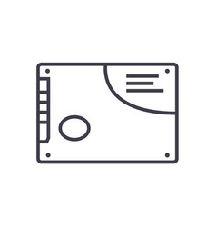 memory card ssd line icon sign vector image