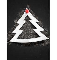Merry Christmas Stylish Tree vector image