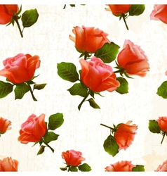 pattern rose flower old vector image
