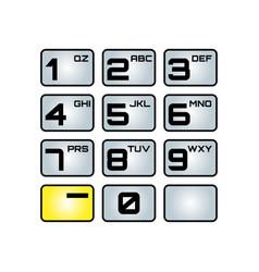 Phone keypad letters converter vector