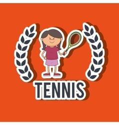 Play tennis design vector