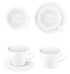 Porcelain cups vector
