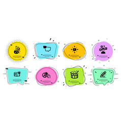 Product knowledge drums and chemistry lab icons vector