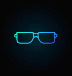 Reading glasses blue icon - eyeglasses vector
