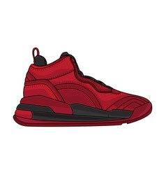 red casual shoes vector image