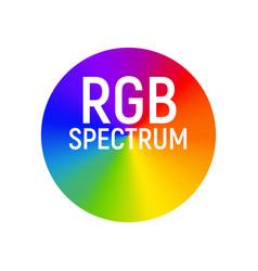 Rgb color wheel spectrum selector picker rgb vector