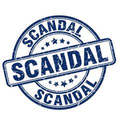 Scandal blue grunge round vintage rubber stamp vector