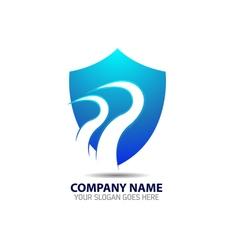 Security Shield Logo Icon Template vector