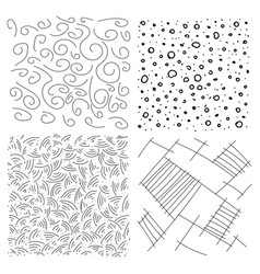 set line circles and dots drawn pencil vector image