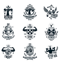 set of heavy load theme symbols and advertising vector image