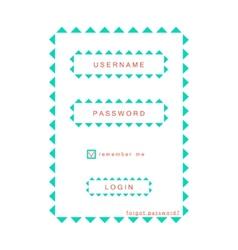 Simple eco login form vector
