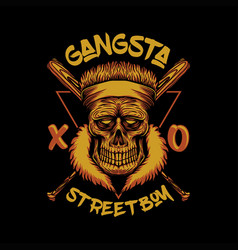 Skull gangsta street boy vector
