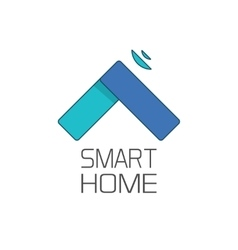 Smart home logo symbol isolated on white vector image