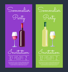 Sommelier party with dates on vector