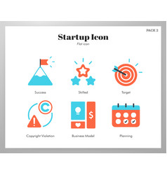 Startup icon flat pack vector