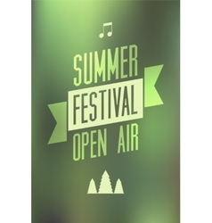 Summer festival open air typographical poster vector image